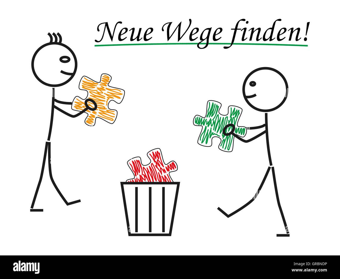 Find New Ways Stock Photo