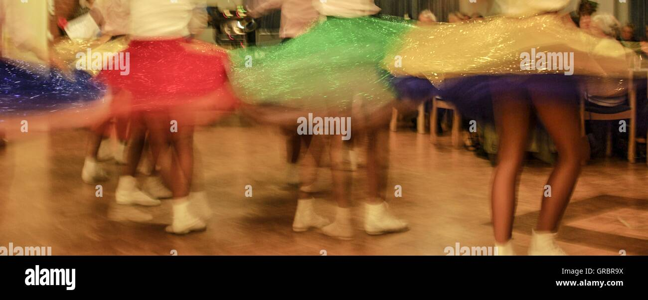 Swirling Skirts - Stock Image