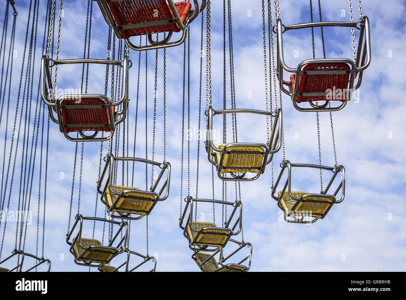 Fairs, Carnivals, Fairground, Chairoplanes - Stock Image