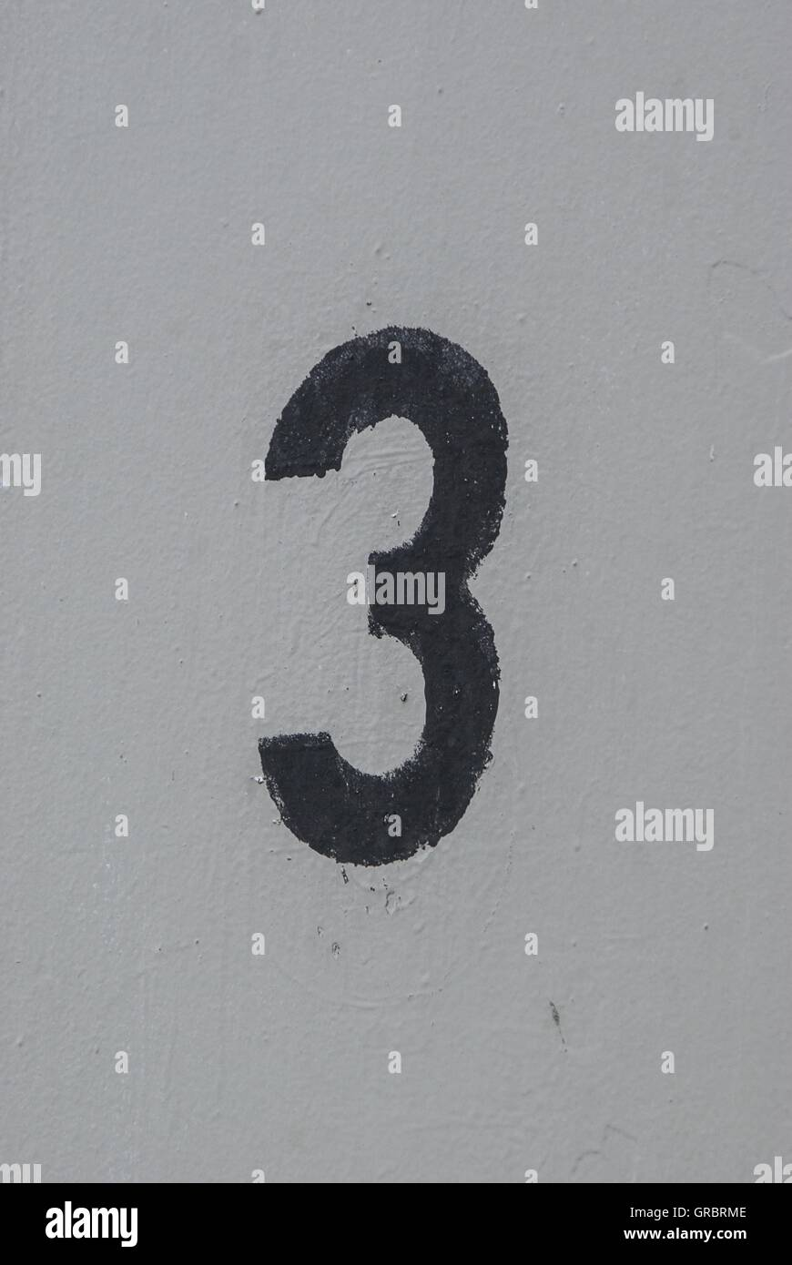 Three, Numeral, Numbers, - Stock Image