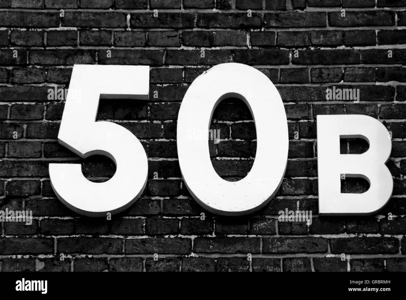 50B, Numeral, Numbers, - Stock Image
