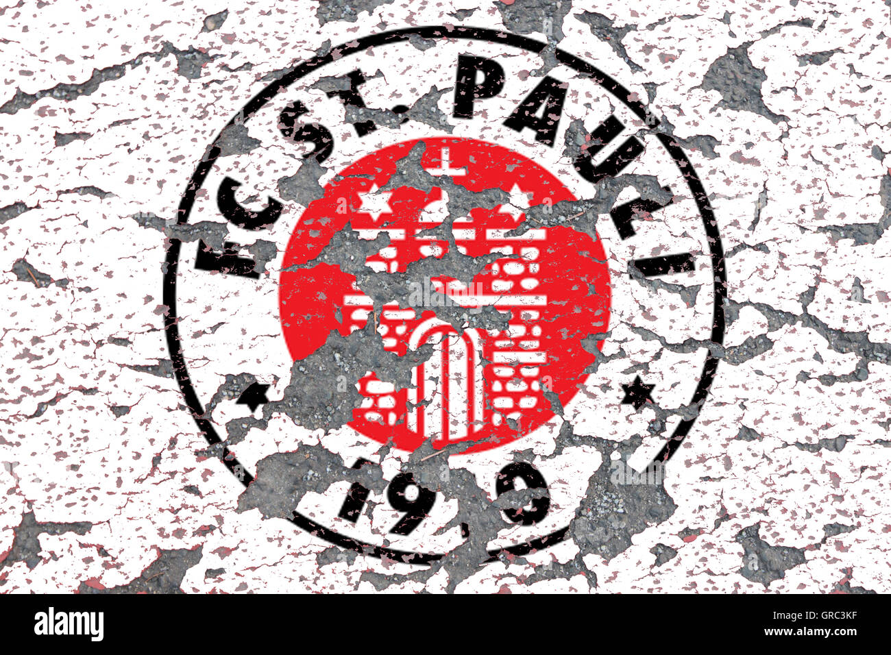 Eroding Logos Of Soccer Club Sankt Pauli Stock Photo