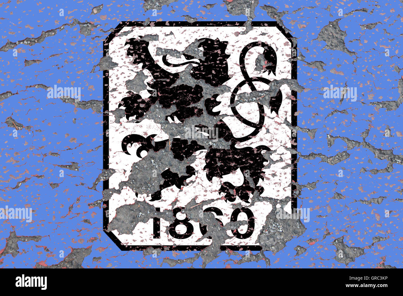 Eroding Logos Of Soccer Club 1860 Muenchen - Stock Image