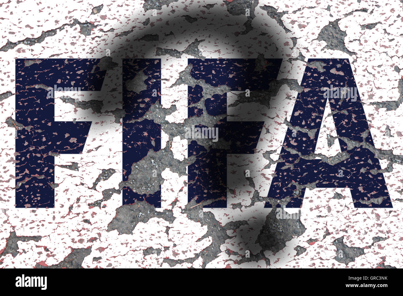 Eroding Fifa Sign With Question Mark - Stock Image