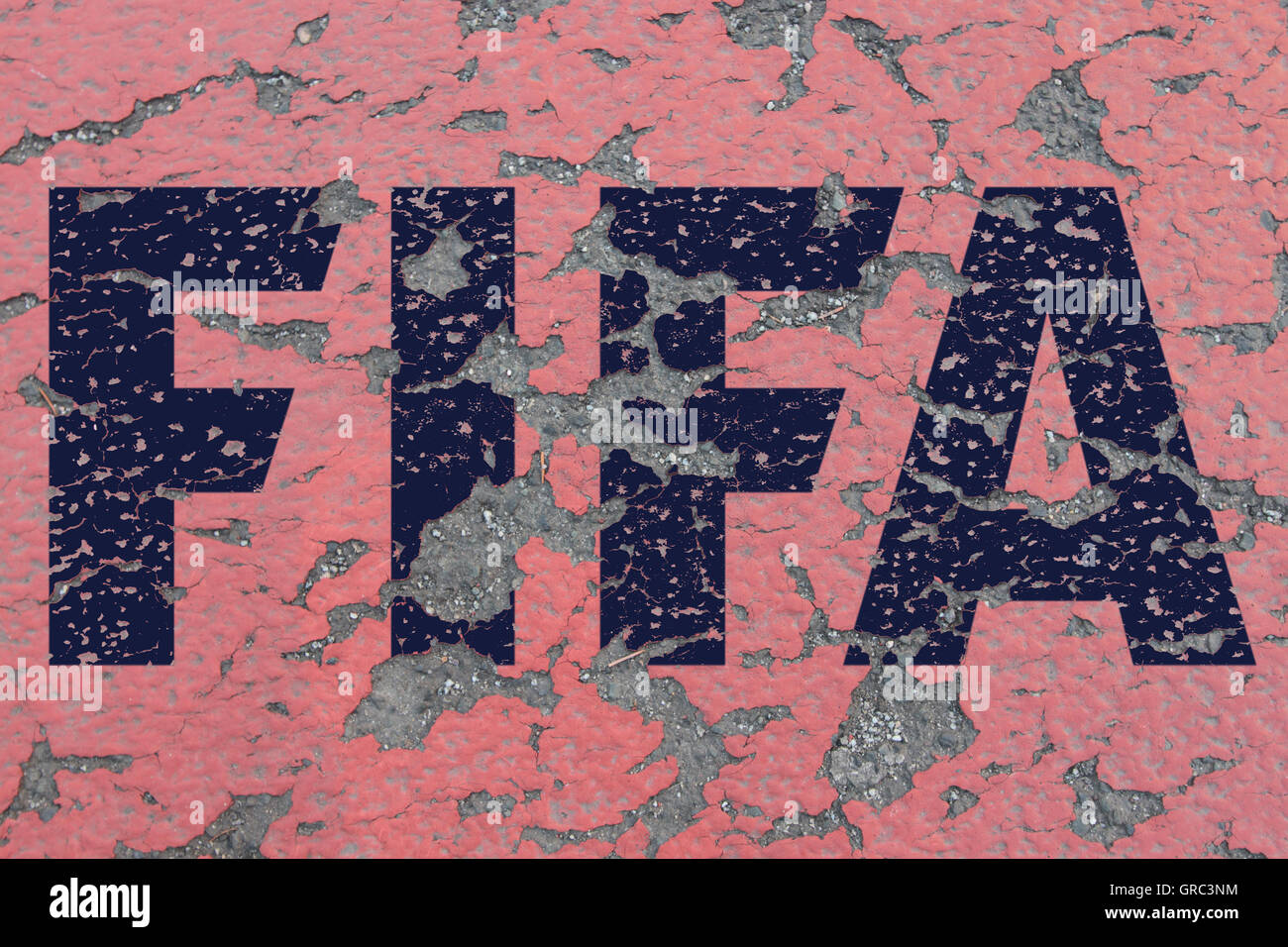 Eroding Fifa Sign - Stock Image