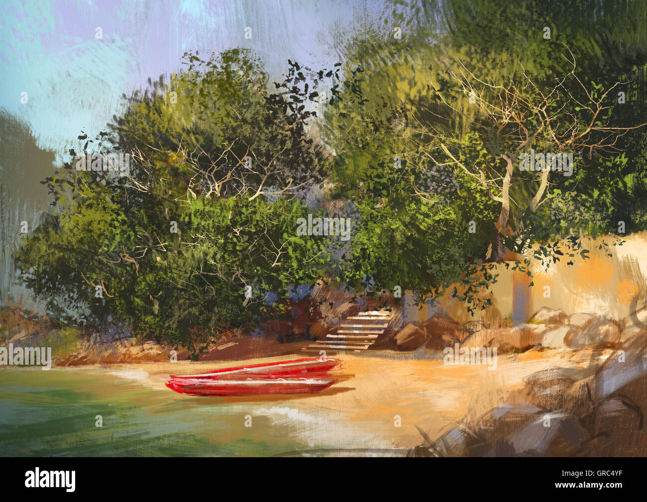 Tropical Landscape Oil Painting High Resolution Stock Photography And Images Alamy