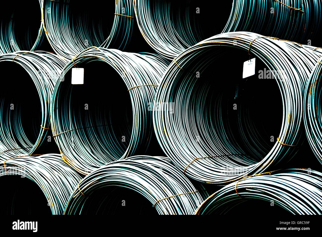Wire Rollers 32 - Stock Image