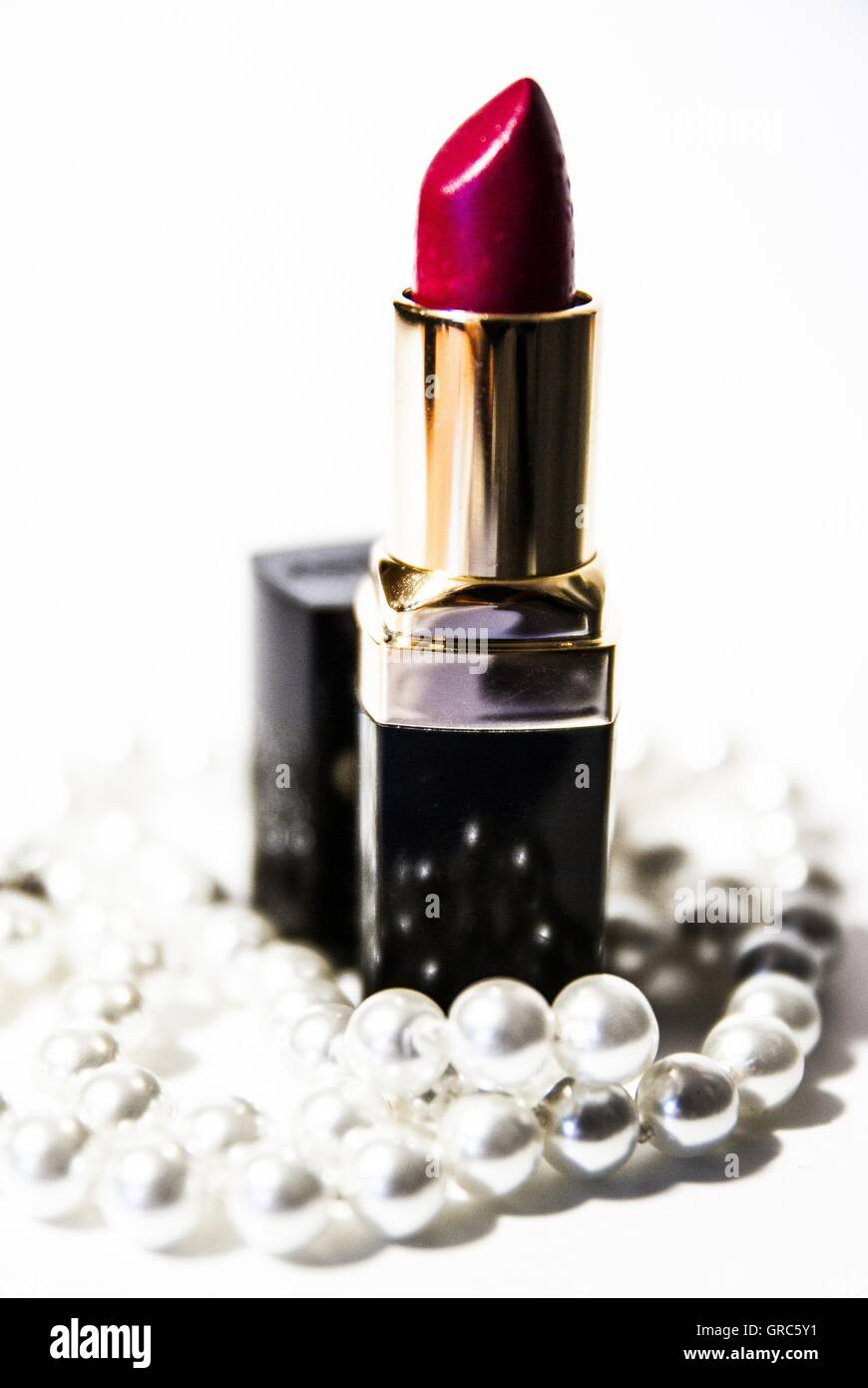 Lipstick Amp Pearls No. 1 - Stock Image