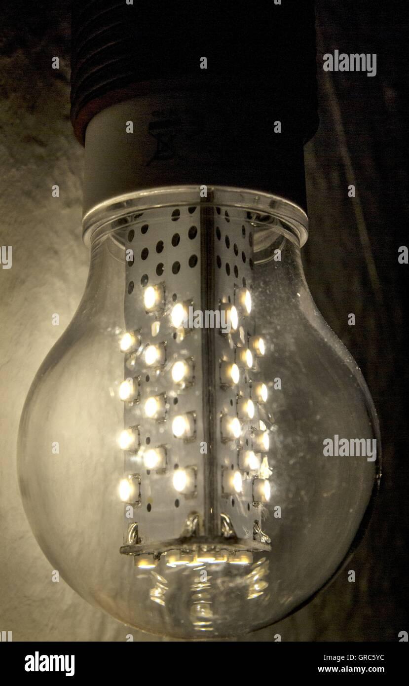 Lamps, Light, Light Bulb, Led - Stock Image