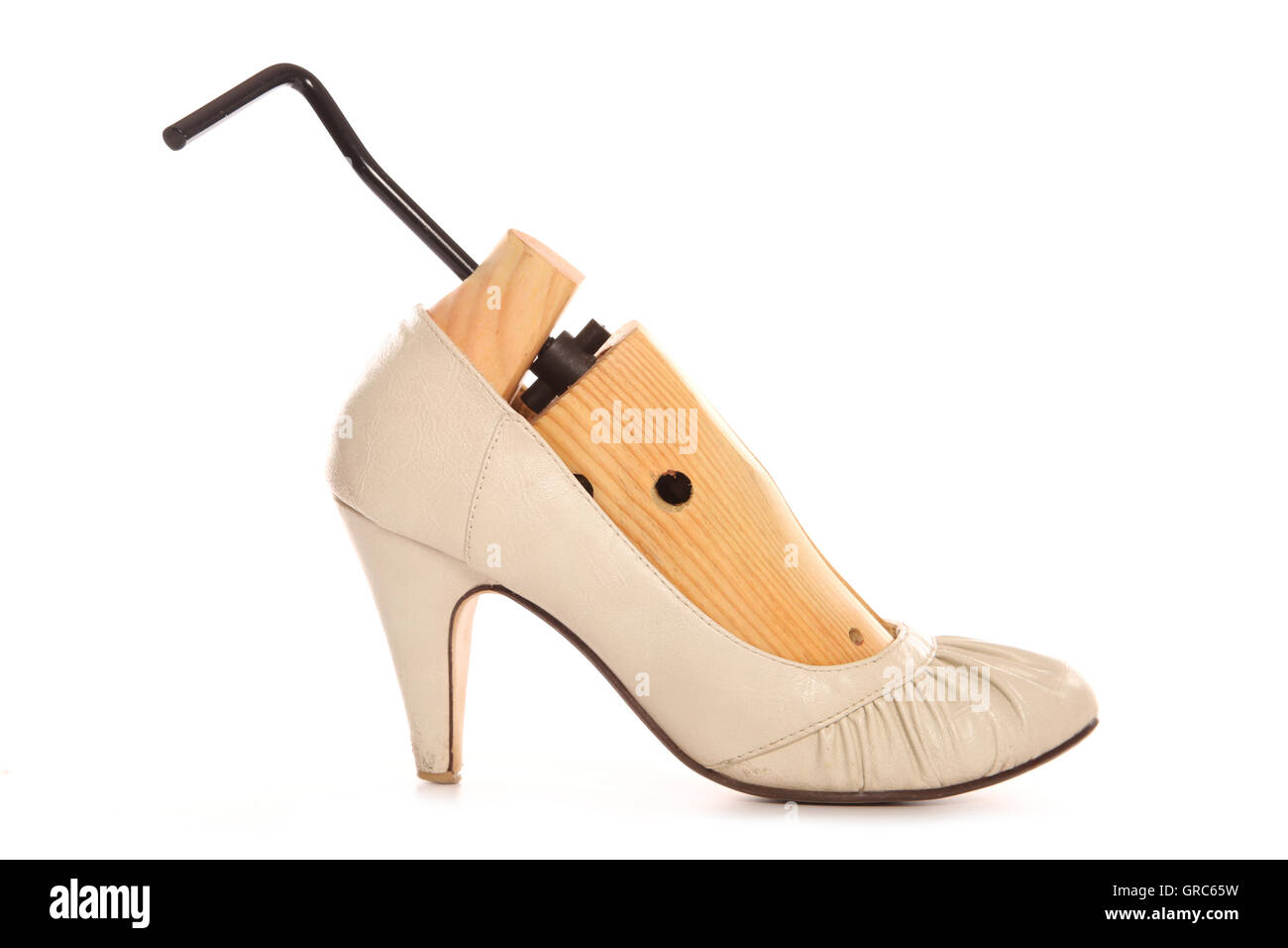 shoe stretcher in high heels cutout - Stock Image