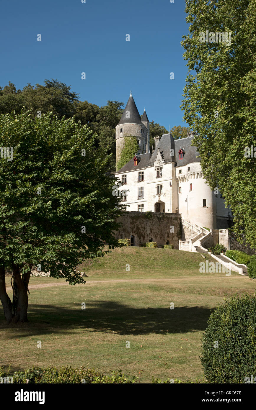 Chissey en Touraine Loire region France - The French turreted 15th century Chateau Chissey at Chissey en Touraine - Stock Image
