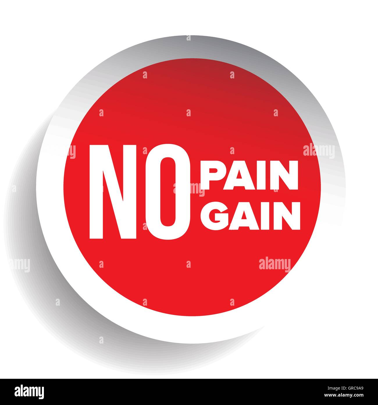 No Pain No Gain Workout And Fitness Motivation Quote Stock Vector