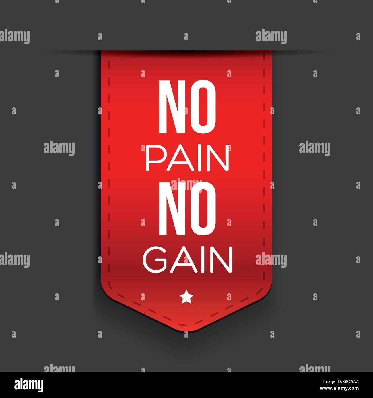 No Pain No Gain Inspirational Quote Stock Photos No Pain No Gain