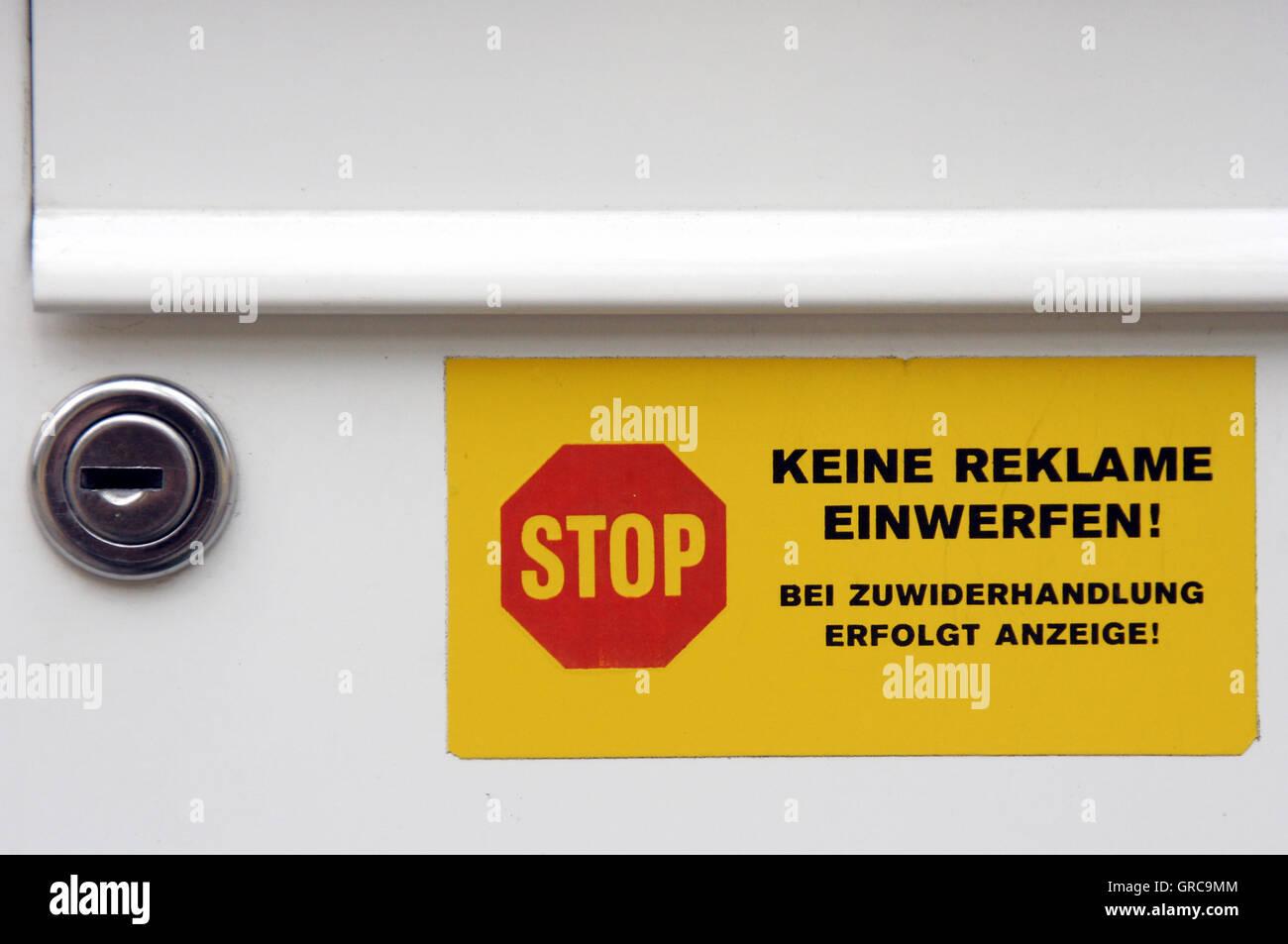Sticker No Advertising - Stock Image