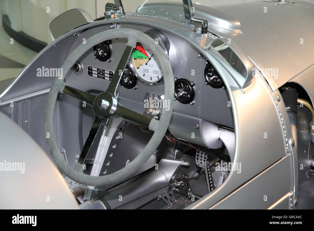 Cockpit From Al Old Racing Car Stock Photo: 117670684 - Alamy