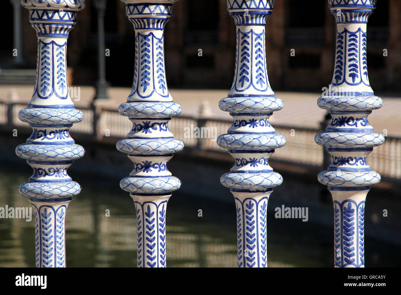 Plaza De Espana Sevilla - Stock Image