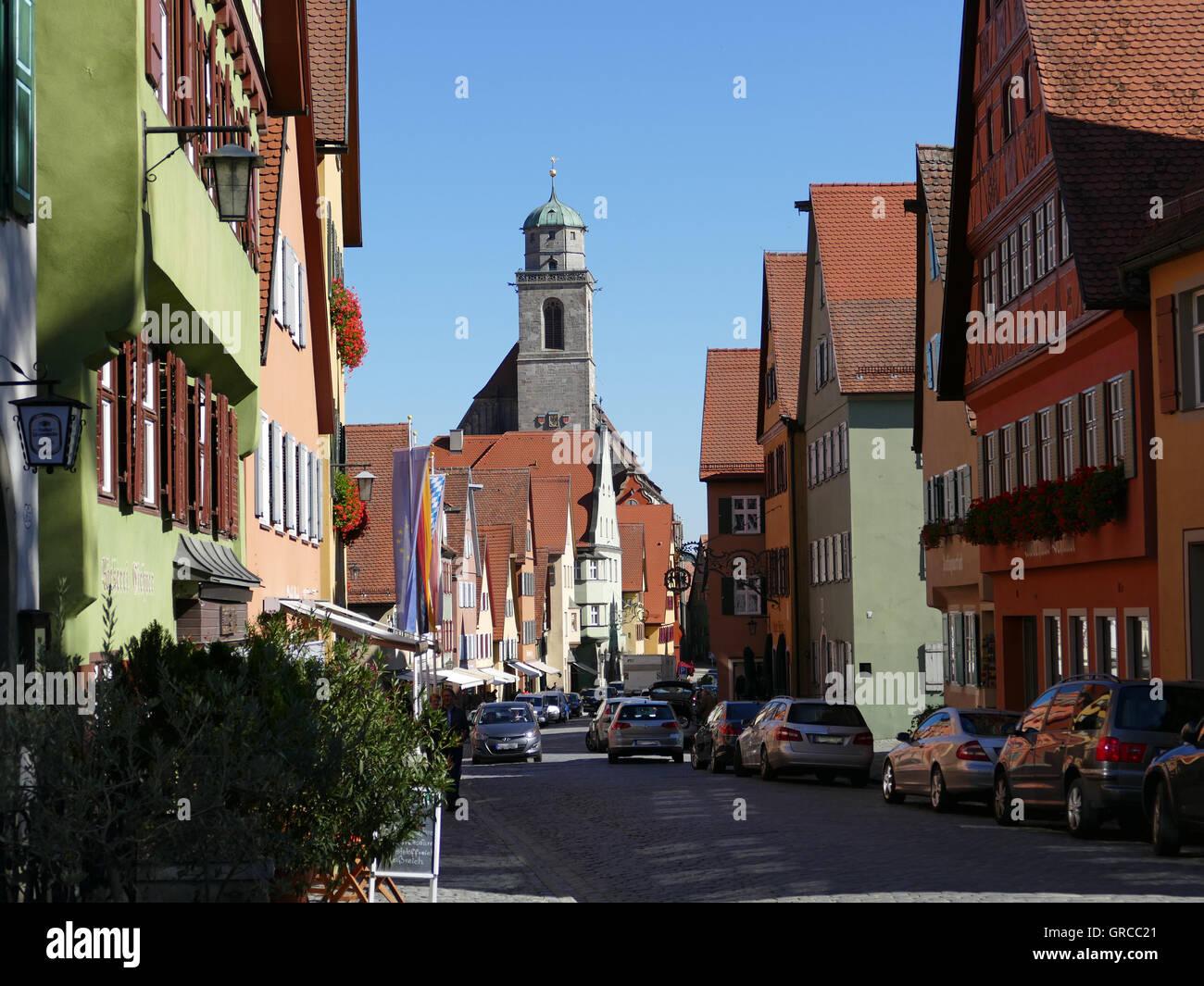 Dinkelsbuehl At Romantic Road - Stock Image