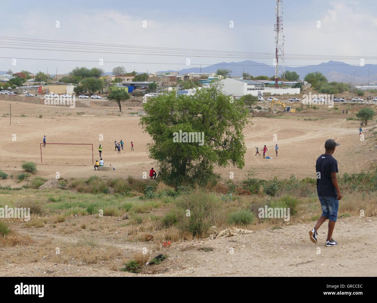 Football Ground, Soccer Unites - Stock Image