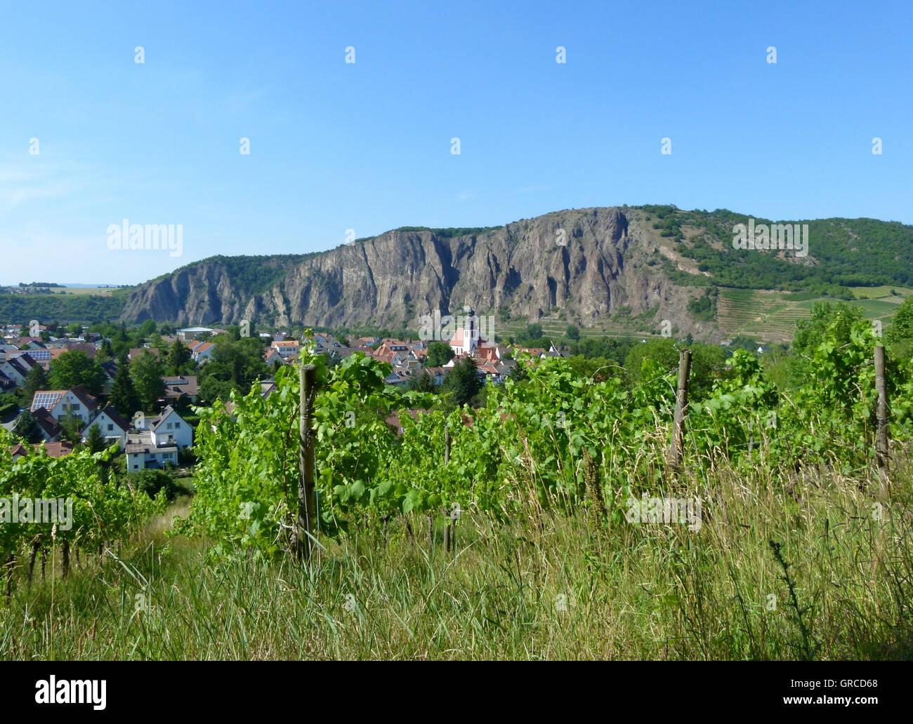 Idyllical Bad Muenster Am Stein, Rhineland-Palatinate - Stock Image