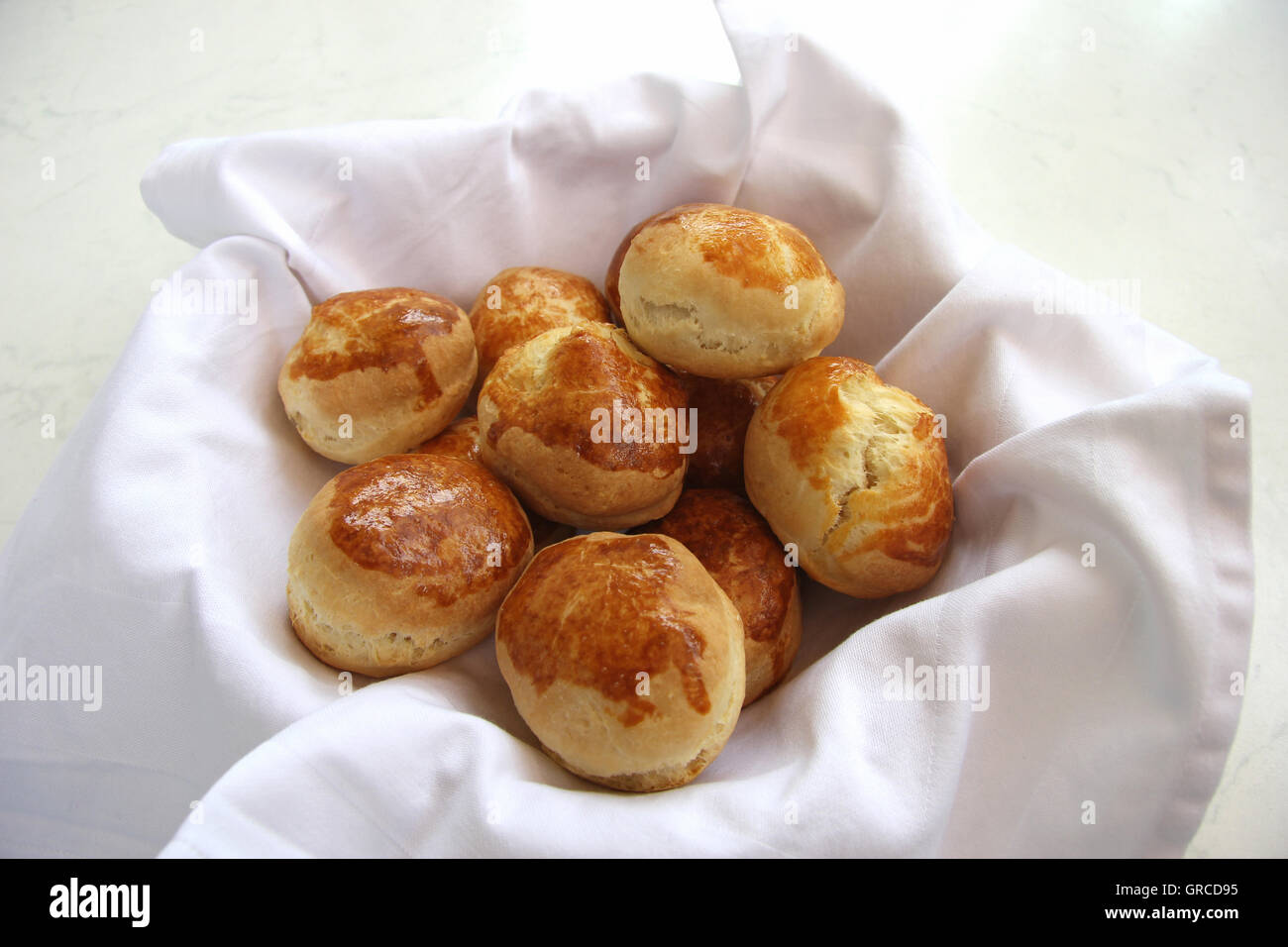 Scones In A Basket - Stock Image