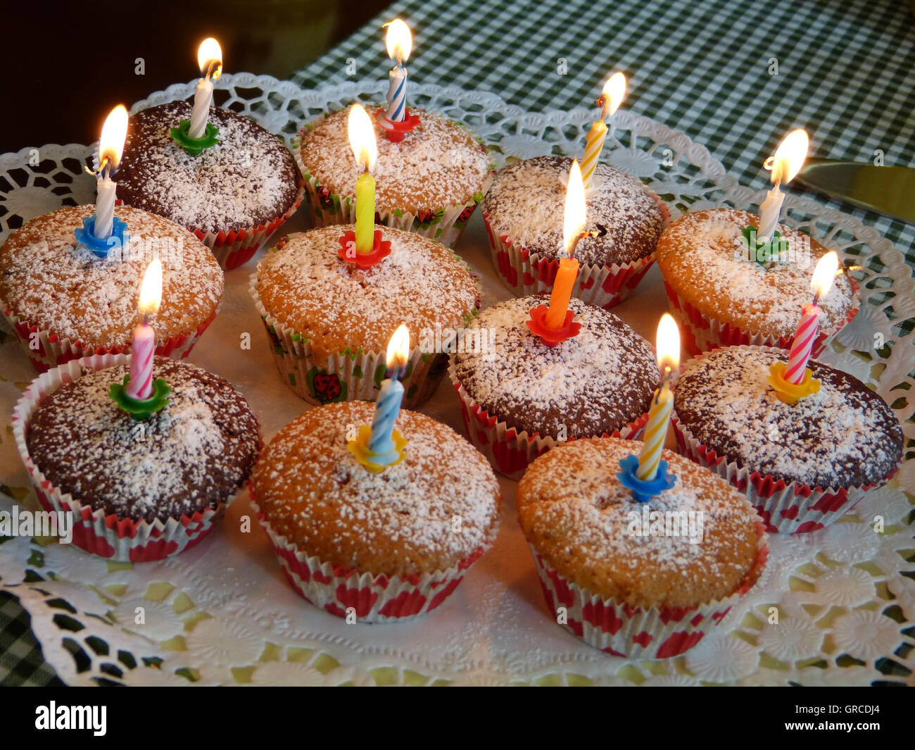 Muffins With Candles Birthday Cake The Eleventh