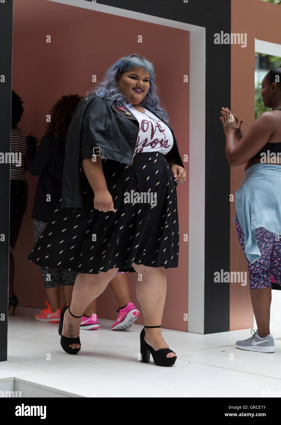 85c8bb726ae Ashley Nell Tipton walks runway for women plus-size collection presented by  JCPenney during New York fashion week ss 2017 at Greeley Square