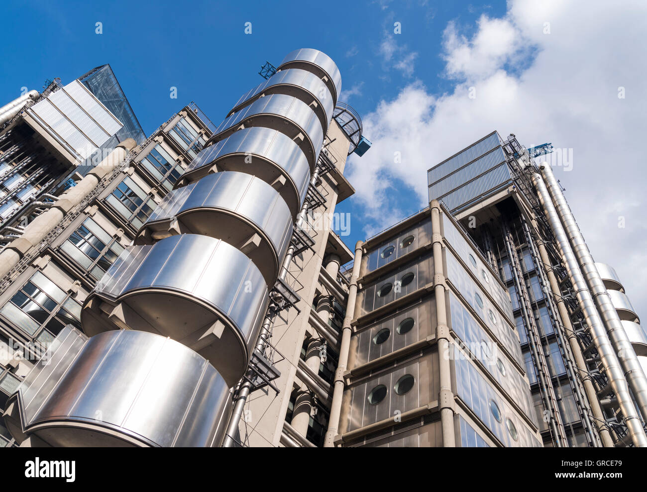 Lloyd's of London, Insurance Company, Modern Architecture in Central London, England - Stock Image