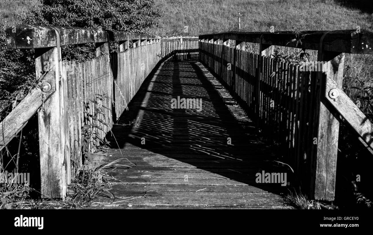 Pedestrian Bridge - Stock Image