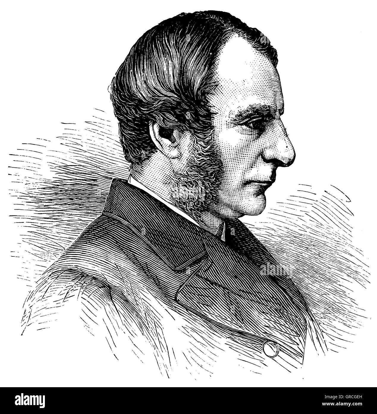 Charles Kingsley. From a Photography by Elliott & Fry - Stock Image