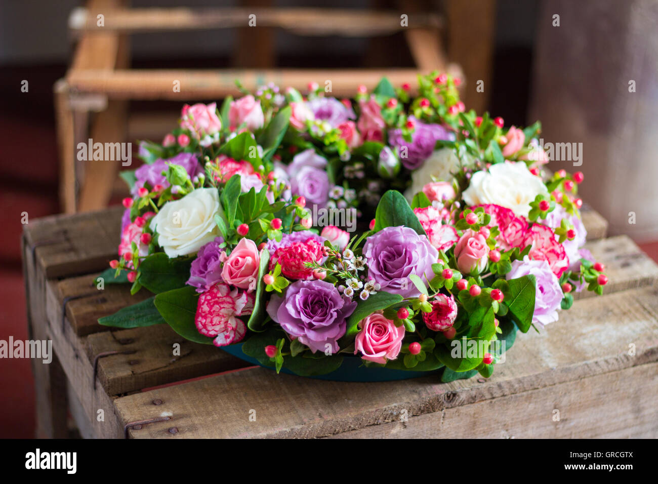 Funeral flower wreath stock photos funeral flower wreath stock funeral wreath stock image izmirmasajfo