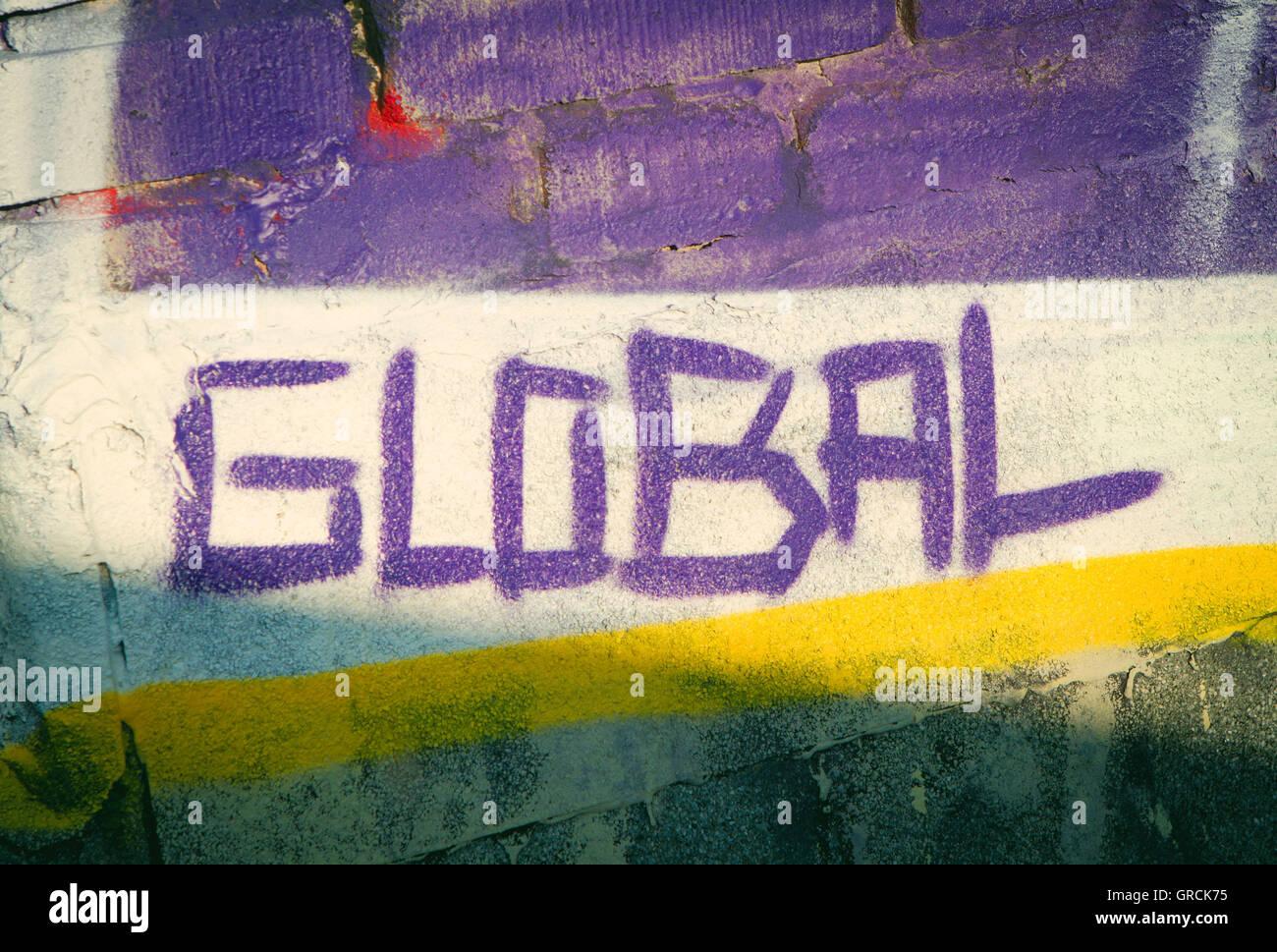 Global, Graffiti, Youth Culture - Stock Image