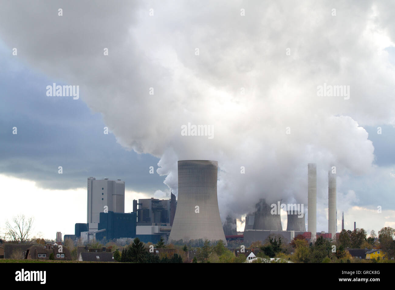 Coal-Fired Power Plant In Nrw - Stock Image