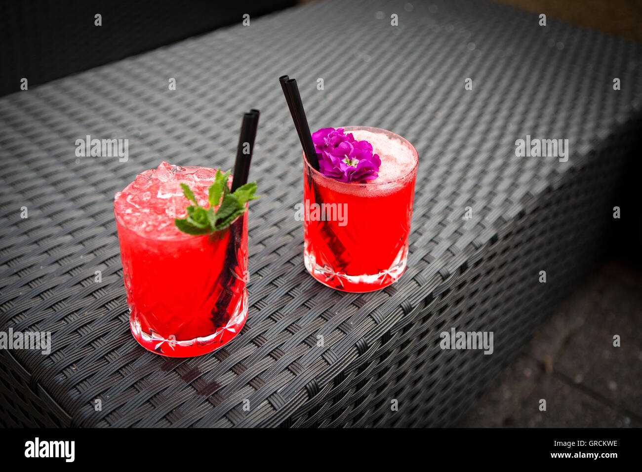 Two Cocktails In The Lounge - Stock Image