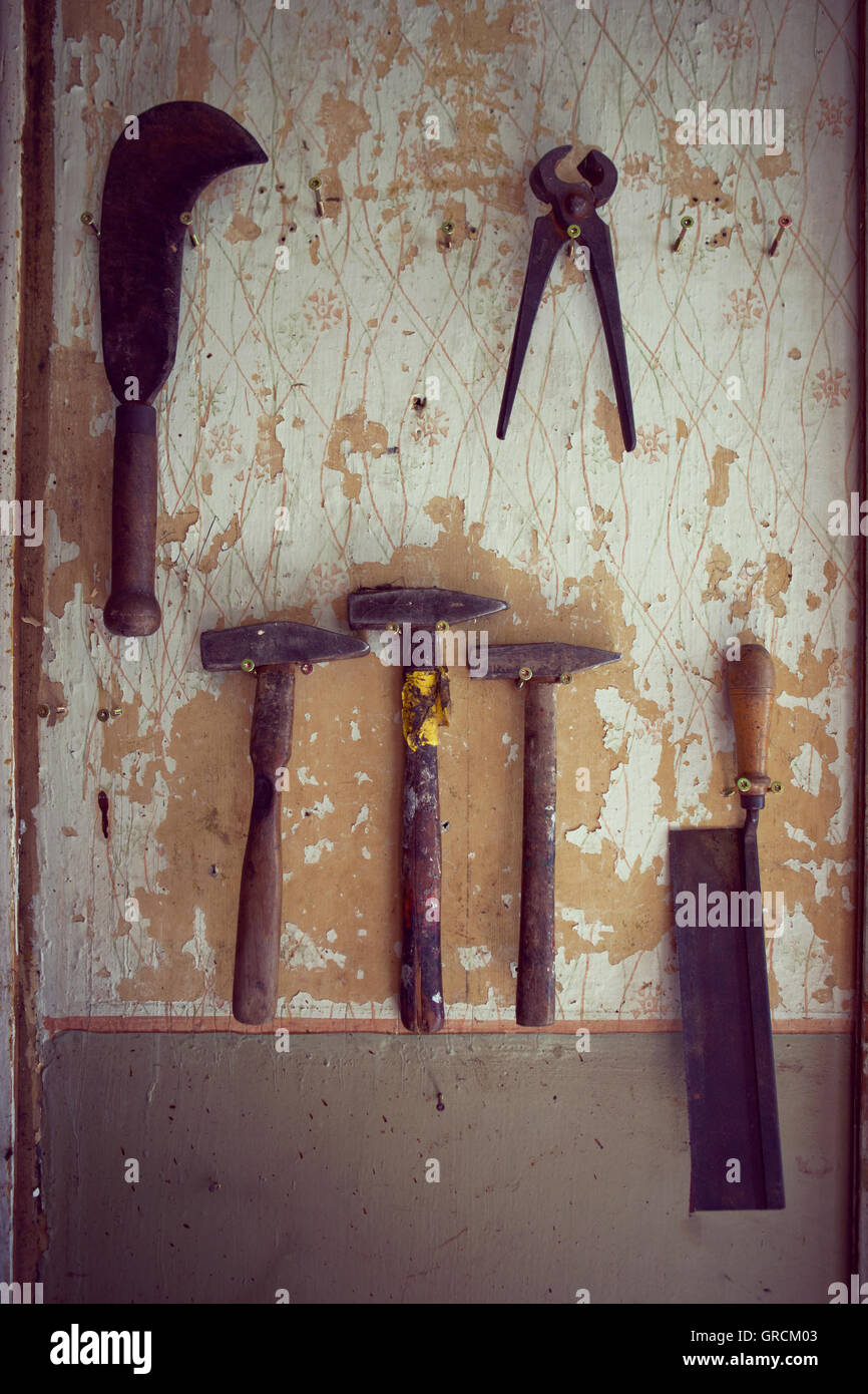 Old Hand Tool - Stock Image