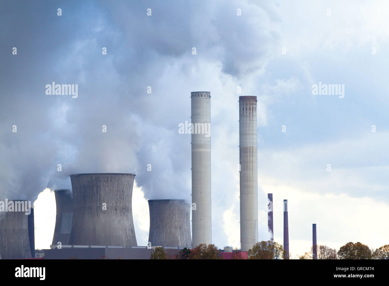 Coal Power Plant Niederaussem, Nrw - Stock Image