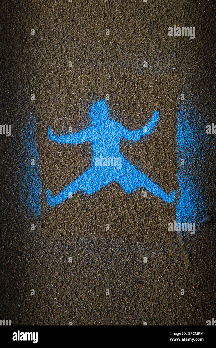 Graffiti, Climbing, Distress, Person - Stock Image