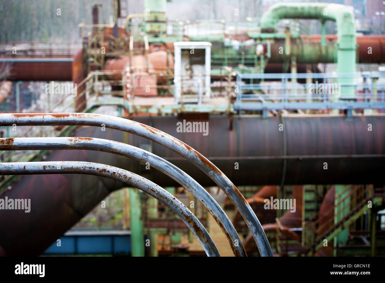 Heavy Industry, Industrial Plant Stock Photo