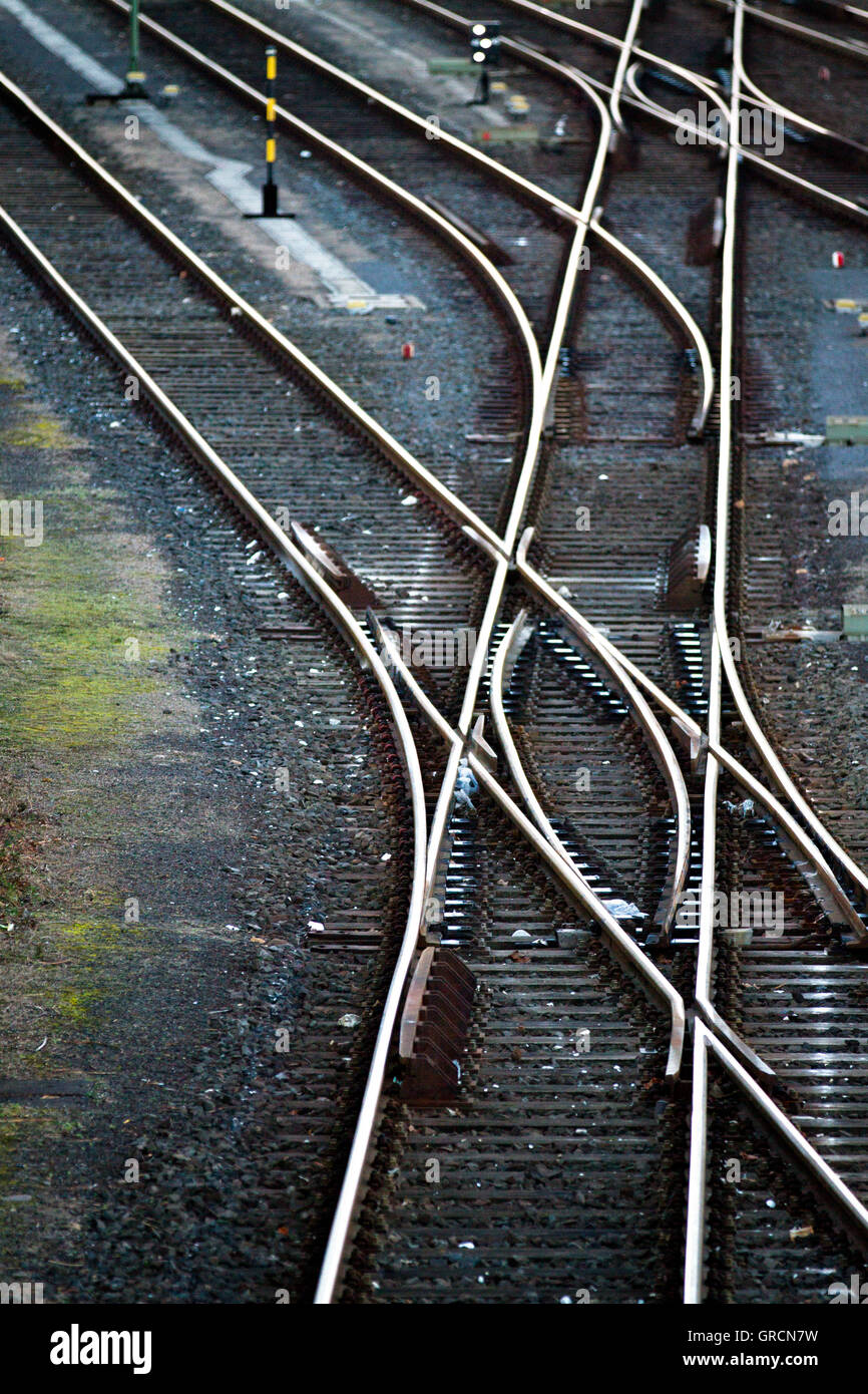 Rail Network With Switches - Stock Image