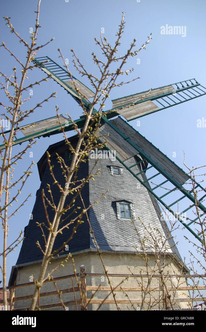 Tower Windmill - Stock Image