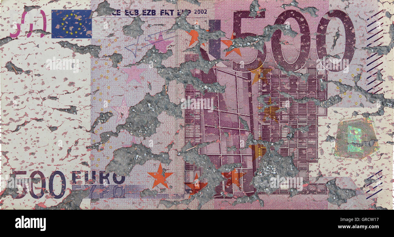 Ecb Annouced To Discontinue Producing 500 Euro Bills Beginning 2018 - Stock Image