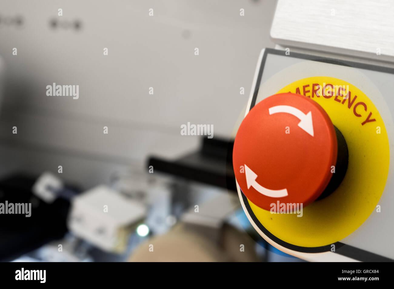 Emergency Panic Button - Stock Image