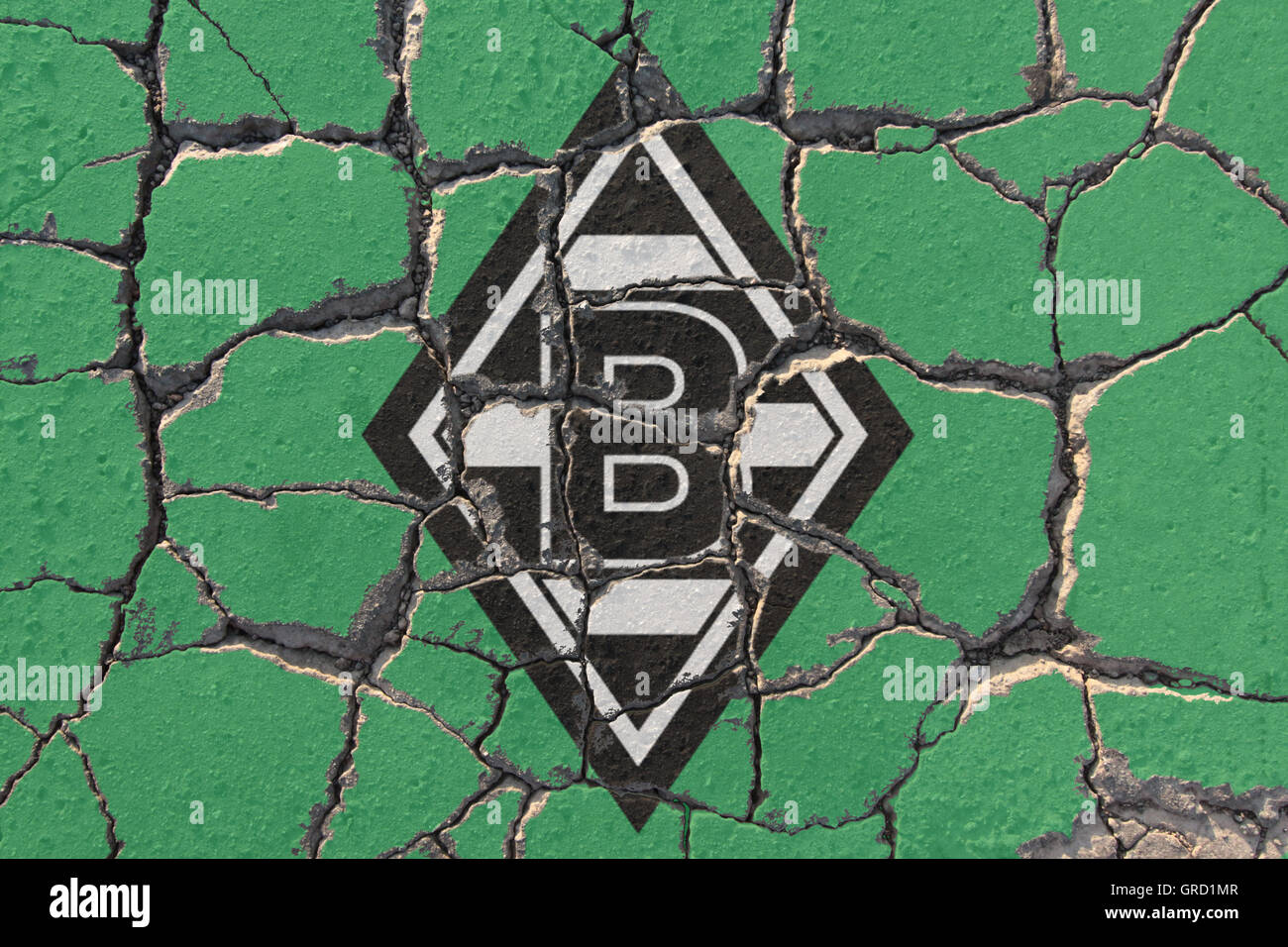 Eroding Sign Of Soccer Club Borussia Moenchengladbach - Stock Image