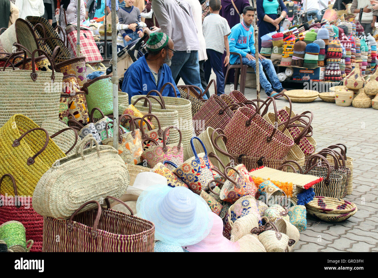 Classically Market At Marocco - Stock Image