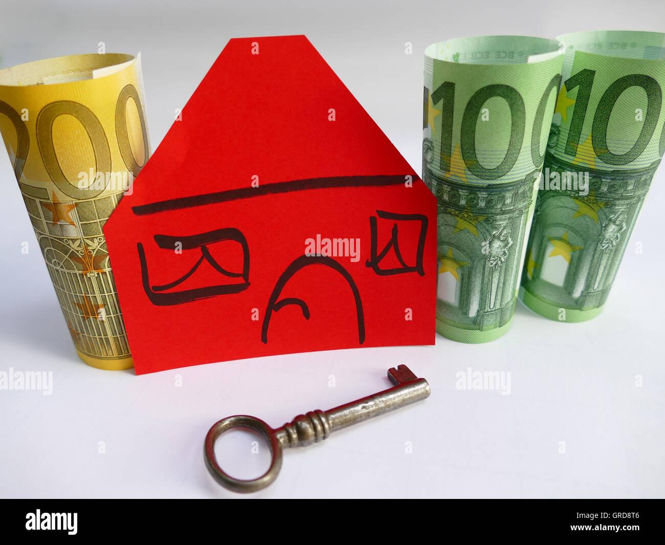 Symbol Photo Buying A House - Stock Image