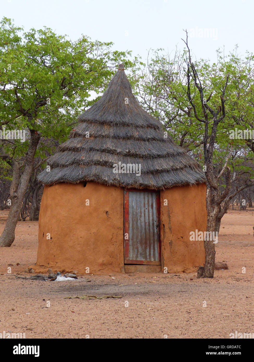 Residential Hut At The Himba - Stock Image