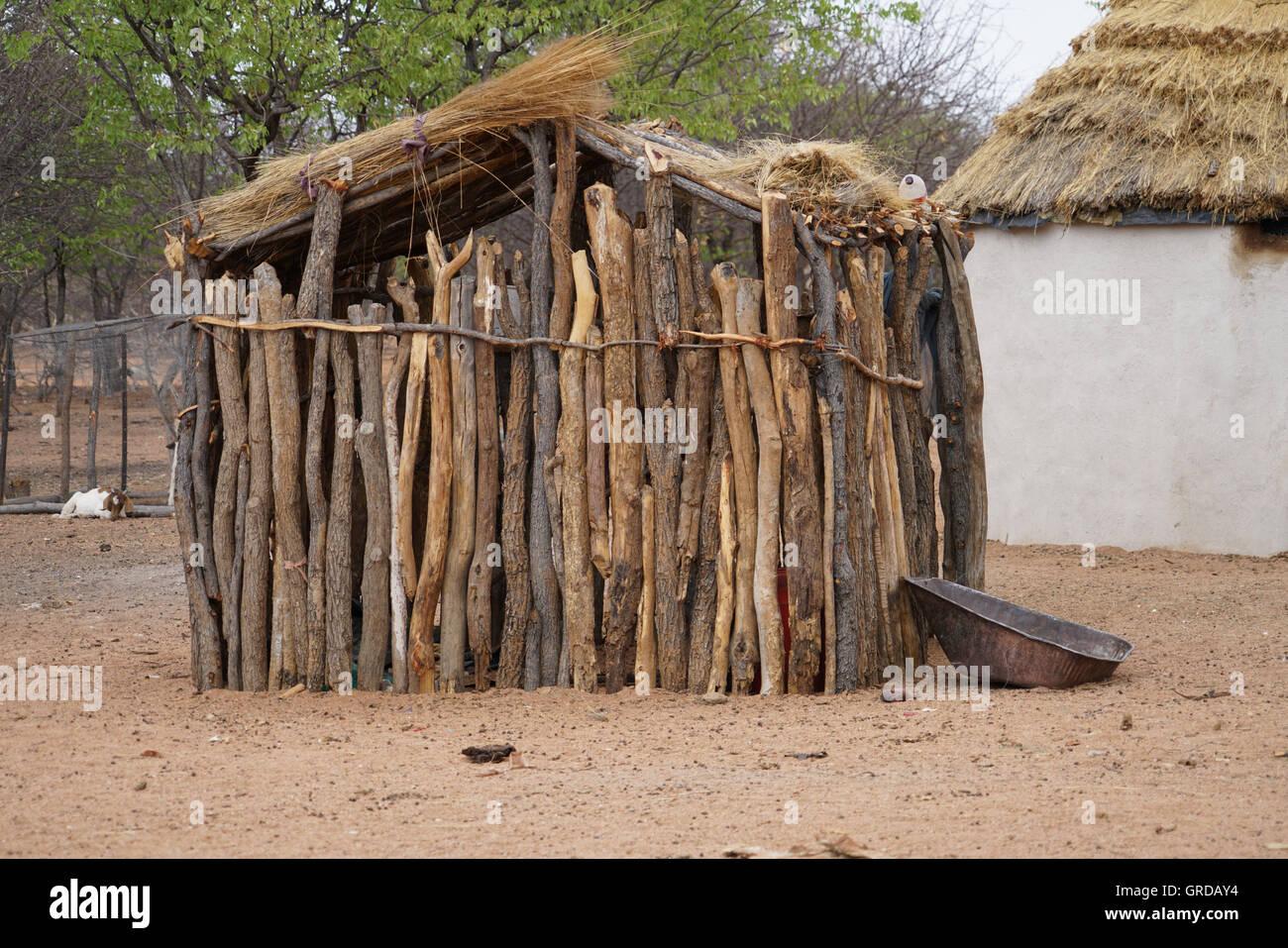 Bathhouse, Bathhut At The Himba - Stock Image