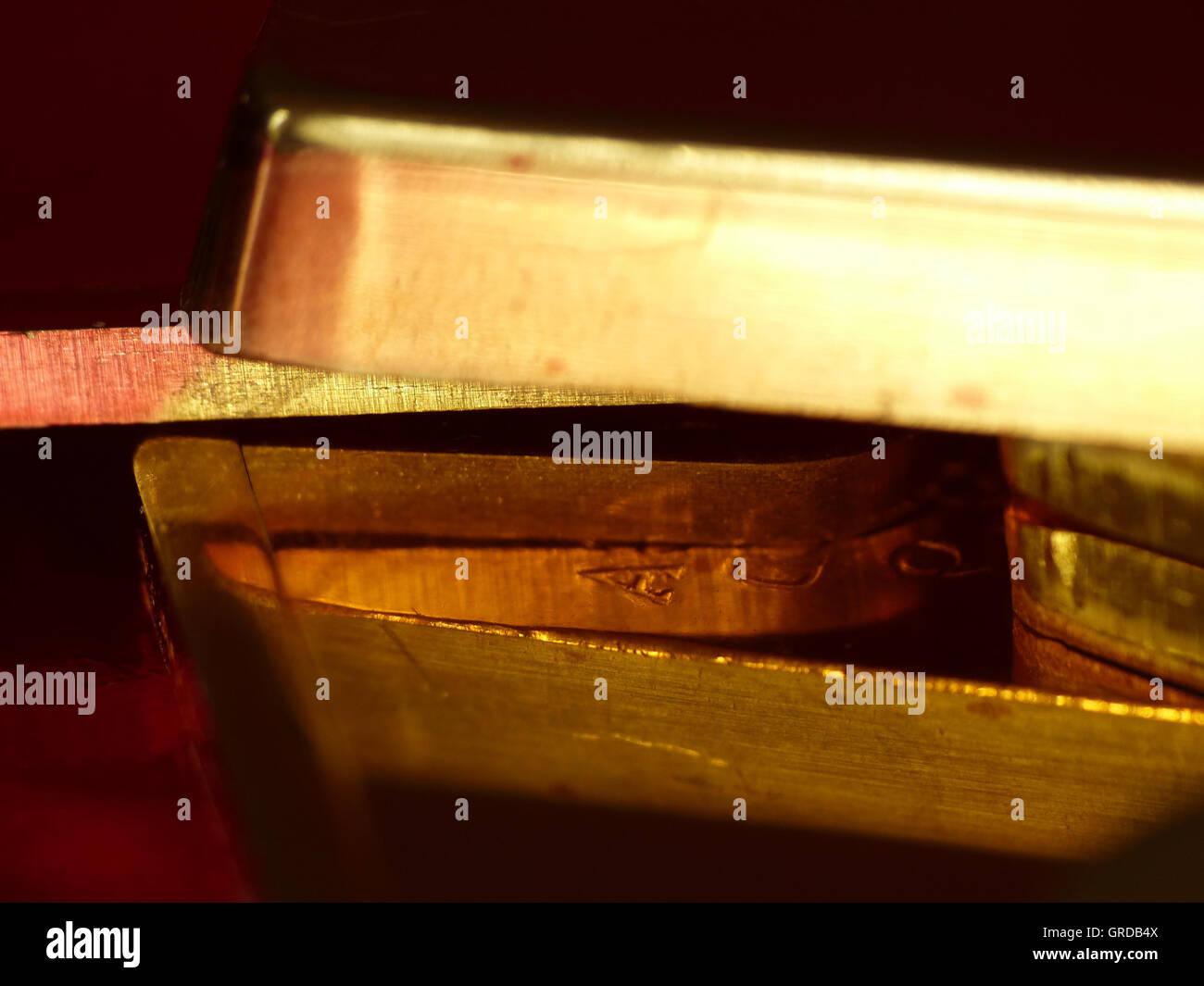 Gold Bares Stock Photo