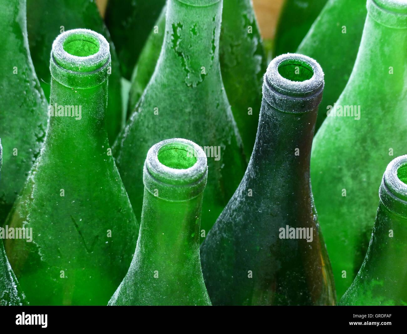 Green Wine Bottles Stock Photos & Green Wine Bottles Stock Images ...