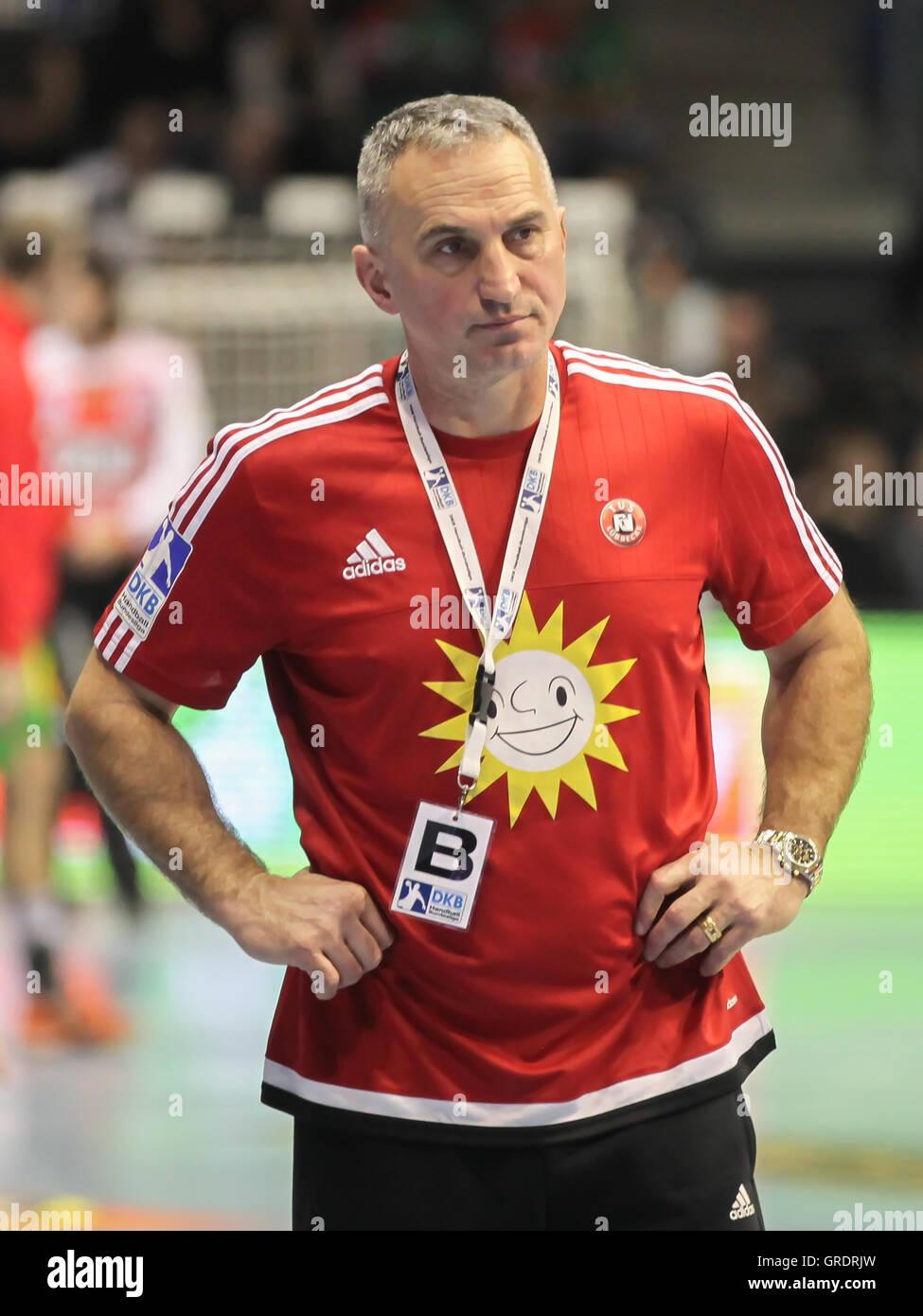 Coach Goran Perkovac Tus N-Lübbecke - Stock Image