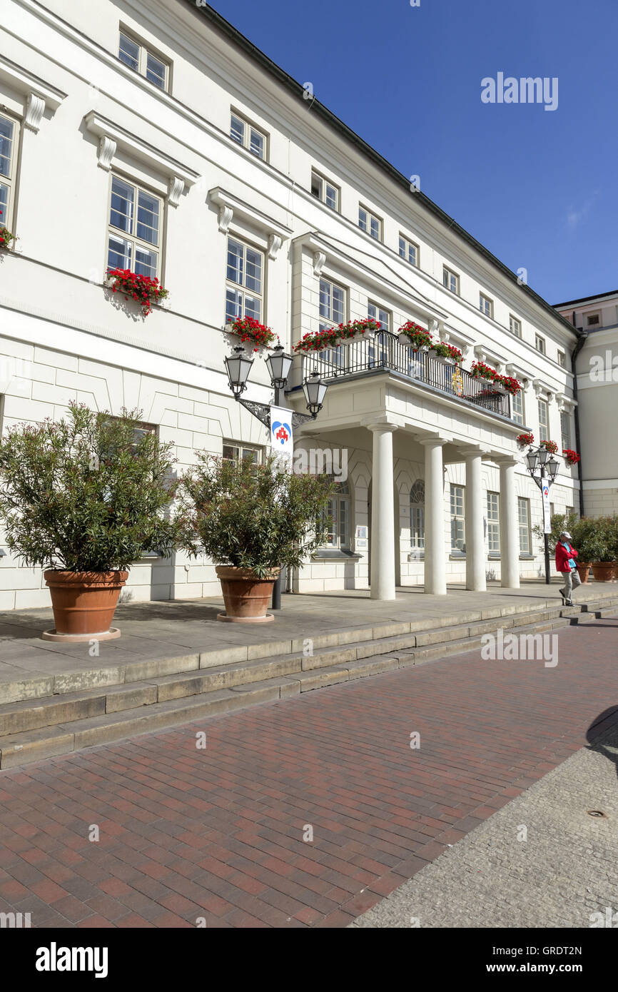 Entrance With A Balcony To The City Government Of Wismar - Stock Image